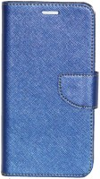 Gizmofreaks Flip Cover for Micromax Canvas Mega 2 Q426 Q426+(Shimmer Blue, Artificial Leather)