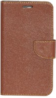 Gizmofreaks Flip Cover for Micromax Canvas Mega 2 Q426 Q426+(Brown, Artificial Leather)