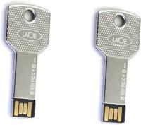 Green Tree Silver Key Type Fancy (Pack Of 2) 16 GB Pen Drive(Silver)