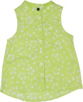 United Colors of Benetton. Girls Printed Casual Green Shirt
