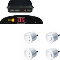 A2D 14034 Car Reverse Parking Sensor WHITE With LED Display Parking Sensor(Ultrasonic Systems)