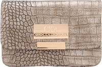 Gio Collection Women Gold Genuine Leather Sling Bag