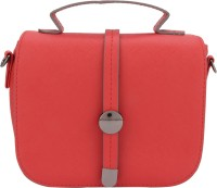 Gio Collection Women Red Genuine Leather Sling Bag