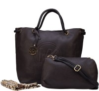 ILU Tote(Brown, Gold)