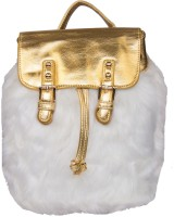 ILU Hand-held Bag(White, Gold)