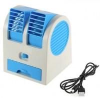 View Attitude Mini Cooler Mini stylish Cooler ZR-107 USB Fan(Blue) Laptop Accessories Price Online(Attitude)