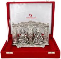 INTERNATIONAL GIFT INTERNATIONAL GIFT Silver Finish Laxmi Ganesh God Idol Best Gift For Diwali Gift, New Year Gift, Wedding Gift, Anniversary Gift (Aluminium, Silver) Showpiece Gift Set