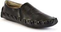 Shoe Island Designer Black Slip-On Loafers Mojaris For Men(Black)