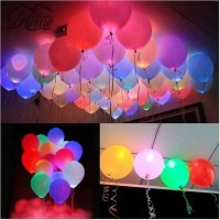 SR Gifts Printed LED Balloon(Multicolor, Pack of 20)