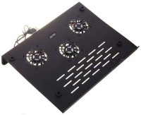 NewveZ High-Performance 3-Fan Laptop/Notebook Cooling Pad(Black, Grey)