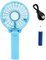 NewveZ Portable Folding Rechargeable Mini Handy Blue USB Fan(Blue)