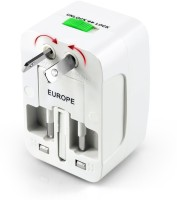 View Jap Universal World Wide Travel Charger Adapter Plug, White Worldwide Adaptor(White) Laptop Accessories Price Online(Jap)