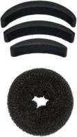 Chanderkash Medium Donut Bun Maker With Bumpits Celebrity Look 4Pc Hair Accessory Set Hair Accessory Set(Black) - Price 141 79 % Off