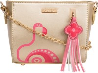 Chumbak Women Gold PU Sling Bag