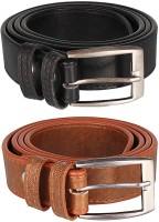 Mango People Boys Brown, Black Genuine Leather Belt