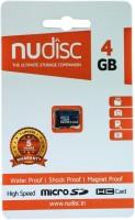 nudisc 4 GB MicroSDHC Class 6 6 MB/s  Memory Card