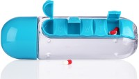 VibeX � Water Bottle with Daily Organizer Pill Box(Blue) - Price 549 81 % Off