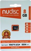 nudisc 8 GB MicroSDHC Class 6 10 MB/s  Memory Card