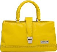 Miles London Women Yellow Genuine Leather Hand-held Bag