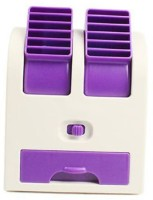 View ShopyBucket Chargeble Dual Bladeless Mini Fresh Air Cooler COL_2 USB Fan(Purple, White) Laptop Accessories Price Online(ShopyBucket)