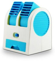 View ShopyBucket Chargeble Dual Bladeless Mini Fresh Air Cooler COL_5 USB Fan(Blue, White) Laptop Accessories Price Online(ShopyBucket)