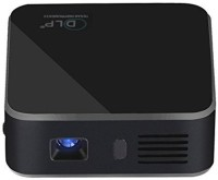CROCON 120 lm DLP Corded & Cordless Portable Projector(Black)