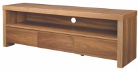 Black Square Engineered Wood TV Entertainment Unit(Finish Color - Light brown)