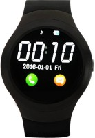 VibeX ™ T11 pro Bluetooth Support SIM/TF Card Facebook Pedometer Men Women Sport Round MP3 Player Smartwatch(Black Strap Free Size)