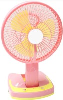View ecstasy Powerful Rechargeable cool air with 21SMD LED lights 3 Blade Table Fan(multicolor) Home Appliances Price Online(ecstasy)