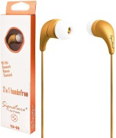 View Signature VM-59 Headphone(Gold, In the Ear) Laptop Accessories Price Online(Signature)