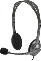 Logitech h111 Wired Headset with Mic(Black, On the Ear) thumbnail