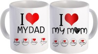 SKY TRENDS Gift For Father/Mother And Father/Anniversary Surprised For Parents STD-011 Mug Gift Set