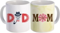SKY TRENDS Gift For Father/Mother And Father/Anniversary Surprised For Parents STD-007 Mug Gift Set