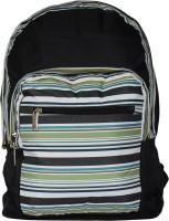 Tinytot Waterproof School Bag(Black, Green, 18 inch)