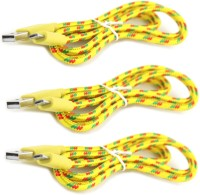 IMobile 2 Meter Long [ Pack of 3 ] Micro USB Sync & Charge Cable(Yellow)