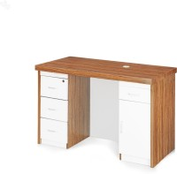 View RoyalOak Larix Engineered Wood Office Table(Free Standing, Finish Color - Brown) Furniture (RoyalOak)