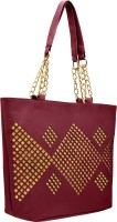 tap fashion Women Maroon PU Shoulder Bag