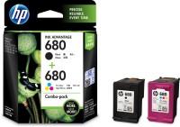 HP 680 combo pack Multi Color Ink Cartridge(Magenta, Cyan, Black, Yellow)