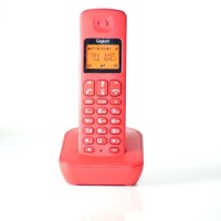 View Gigaset A100 Cordless Landline Phone(Red) Home Appliances Price Online(Gigaset)