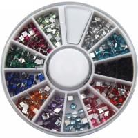 SENECIO� Mix Shape Metallic 3D Nail Studd 6cm Wheel(Multicolor) - Price 139 72 % Off