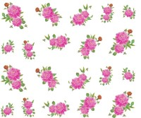 SENECIO� Rose Bunch Multicolor Style - 13 Nail Art Manicure Decals Water Transfer Stickers Sheet(Multicolor) - Price 99 75 % Off