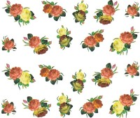 SENECIO� Rose Bunch Multicolor Style - 17 Nail Art Manicure Decals Water Transfer Stickers Sheet(Multicolor) - Price 90 77 % Off
