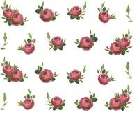 SENECIO� Rose Bunch Multicolor Style - 14 Nail Art Manicure Decals Water Transfer Stickers Sheet(Multicolor)