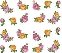 SENECIO� Rose Bunch Multicolor Style - 23 Nail Art Manicure Decals Water Transfer Stickers Sheet(Multicolor)