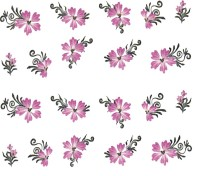 SENECIO� Rose Bunch Butterfly Multicolor Style - 2 Nail Art Manicure Decals Water Transfer Stickers Sheet(Multicolor) - Price 119 70 % Off