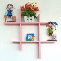 View Wooden Art & Toys na MDF Wall Shelf(Number of Shelves - 4, Pink) Furniture (Wooden Art & Toys)