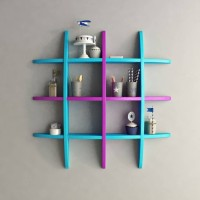 View Wooden Art &Toys na MDF Wall Shelf(Number of Shelves - 1, Multicolor) Furniture (Wooden Art & Toys)