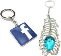 Alexus Facebook And Oh My God Key Chain(Silver)