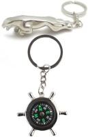 Alexus Compass And Jaguar Key Chain(Silver)