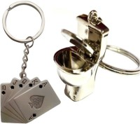 Alexus Card And Commod B Key Chain(Silver)